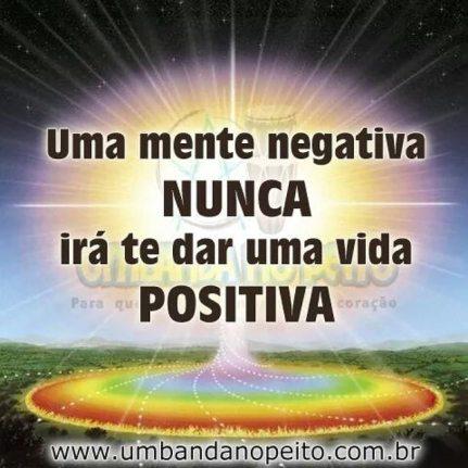 Resultado de imagem para uma mente negativa nunca lhe dará uma vida positiva